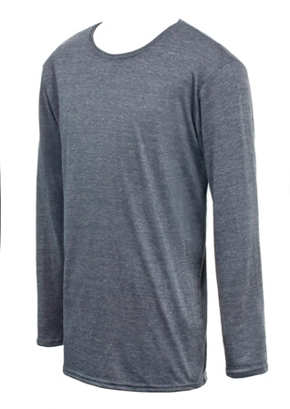 Draper Body Therapy® Mens Longsleeved Blue T-Shirt